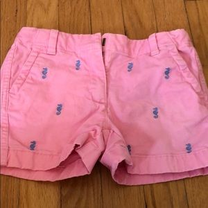 GUC Girls Pink Embroidered seahorse shorts